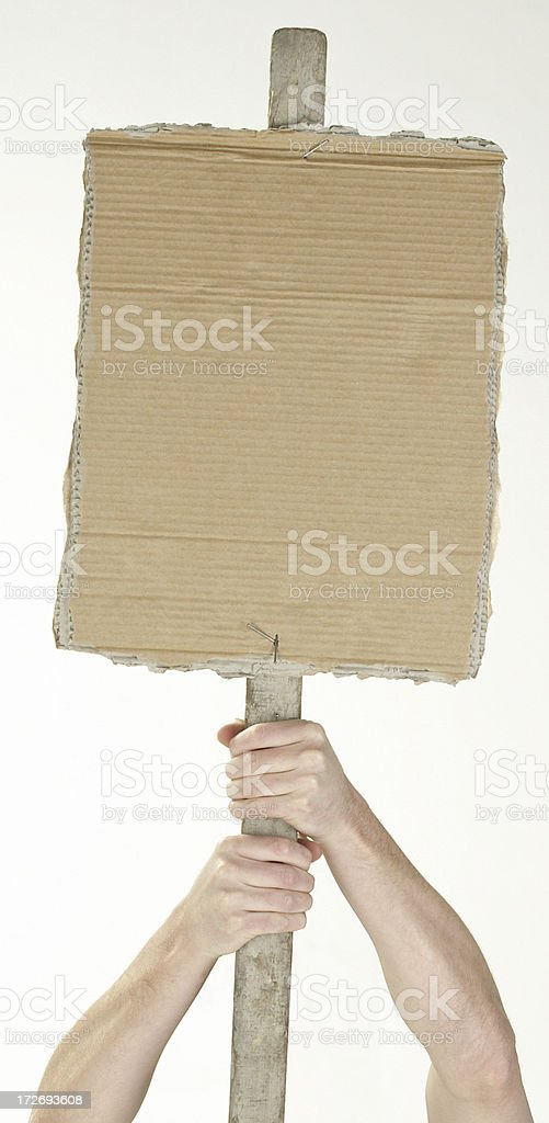 Protest sign royalty-free stock photo
