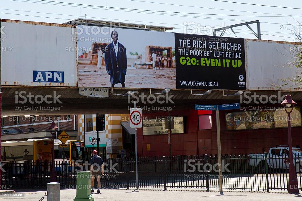 Protest Signage G20, Brisbane stock photo