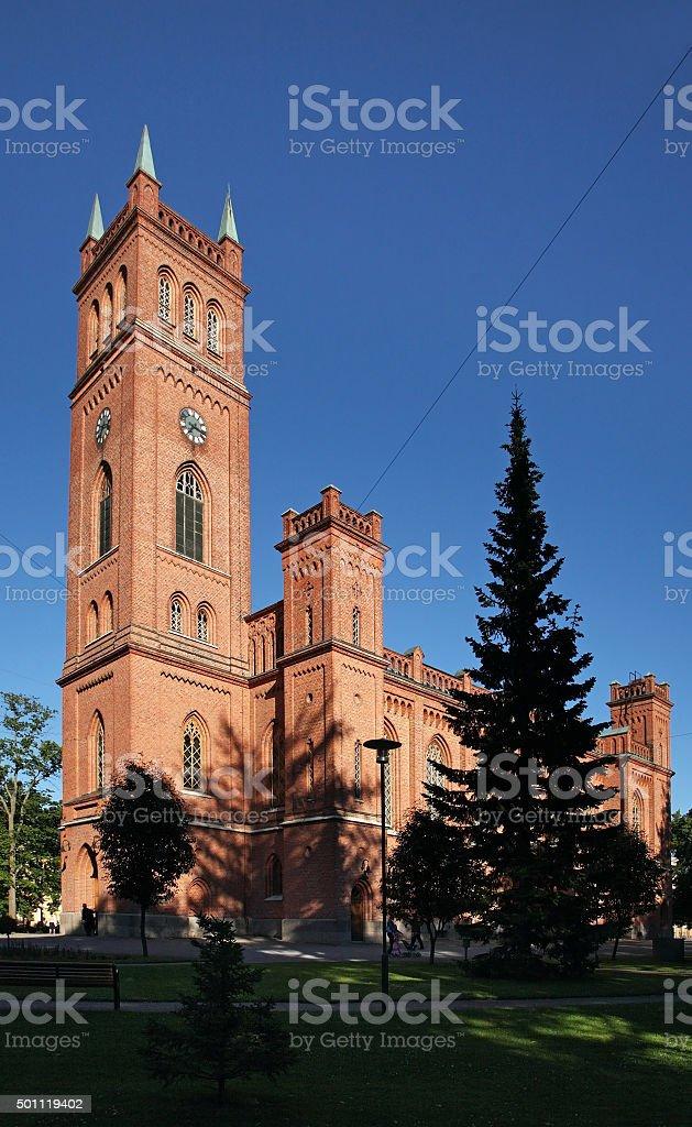 Protestant Trinity church in Vaasa. Finland stock photo