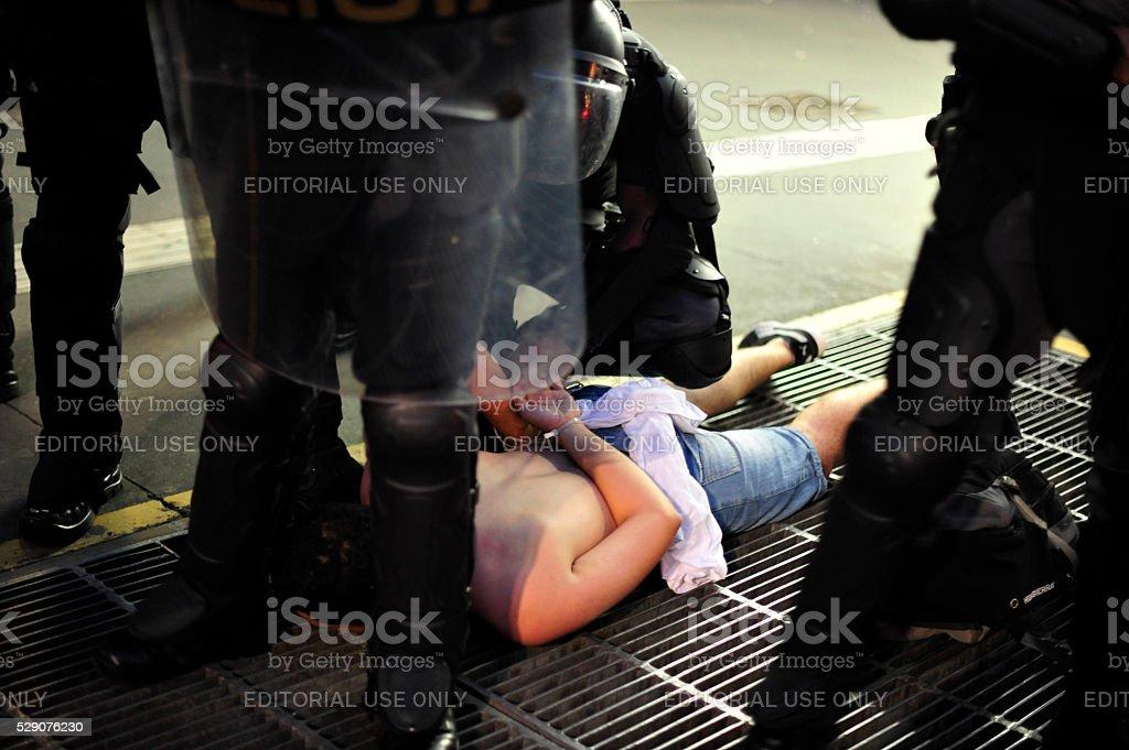 Protester Prisoner stock photo