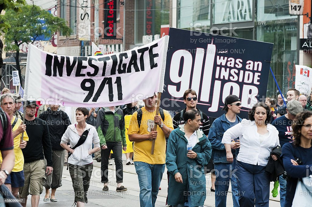 9/11 Protesters royalty-free stock photo