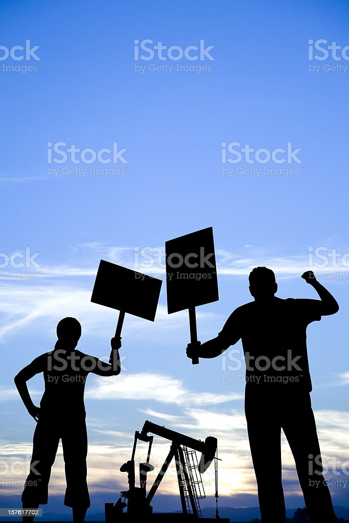 Protesting against the Oil Industry royalty-free stock photo