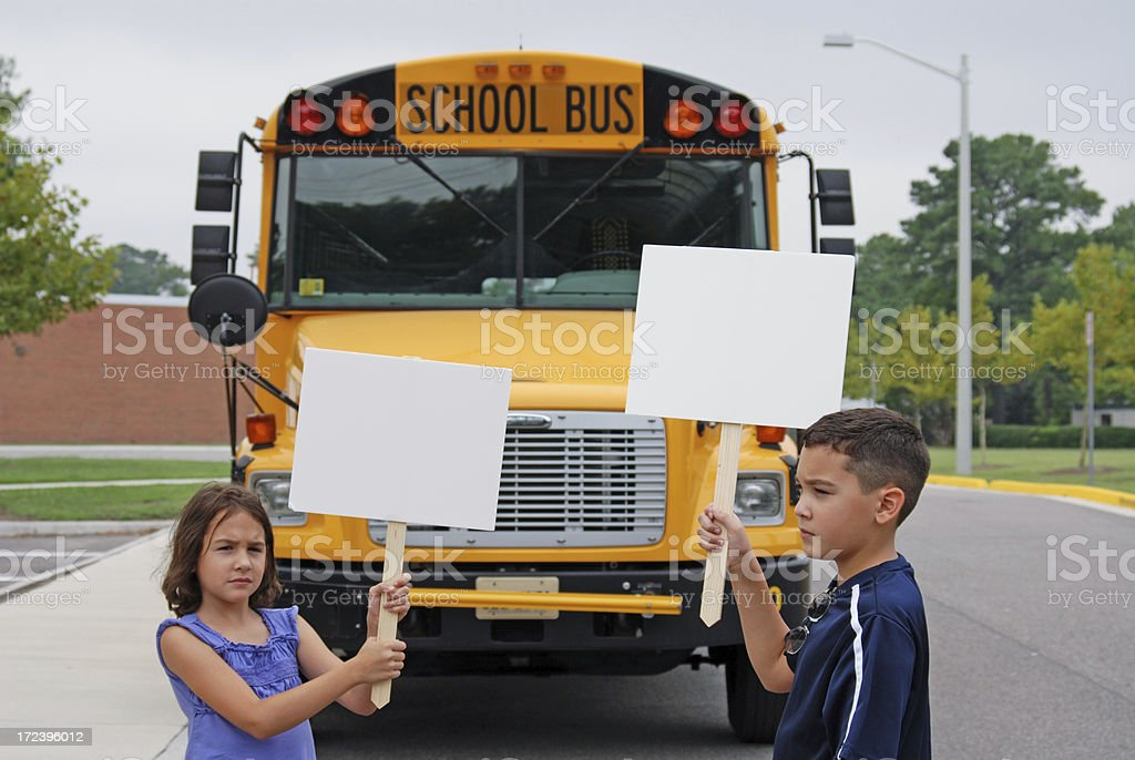Protesting Kids - School Series 1 royalty-free stock photo