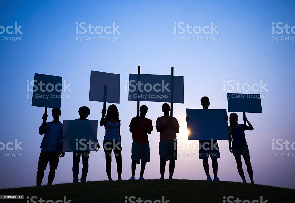 Protesting stock photo