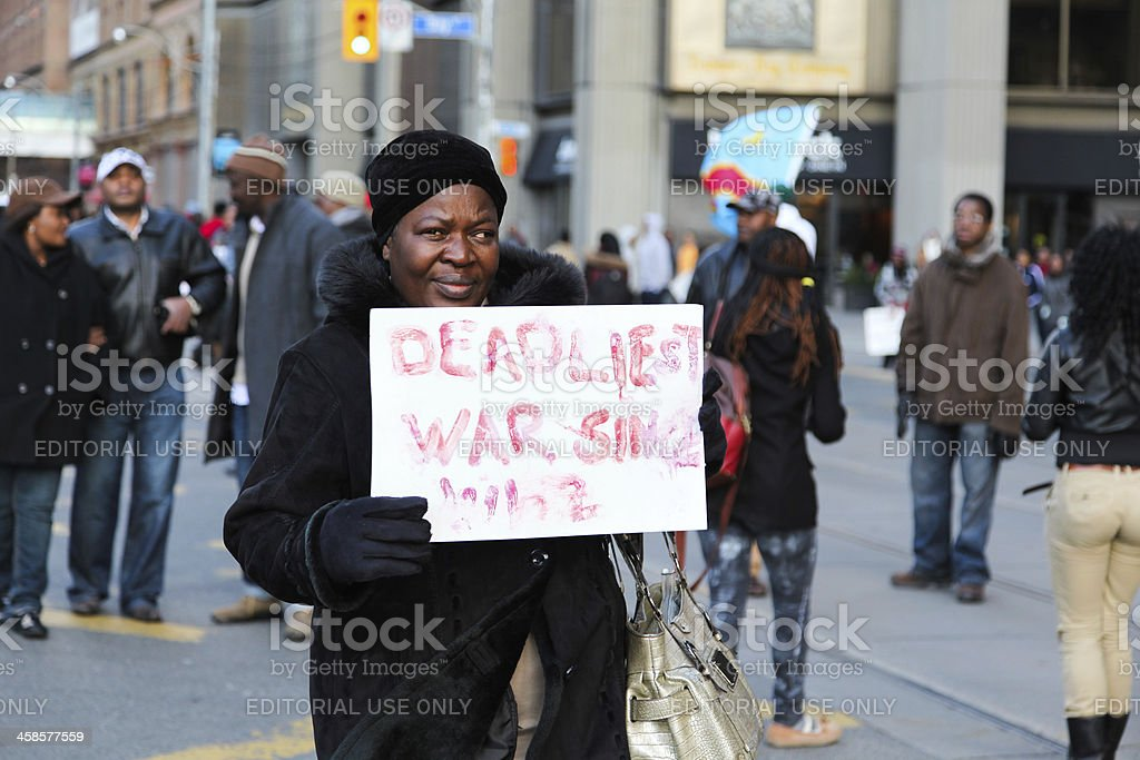 Protestor royalty-free stock photo