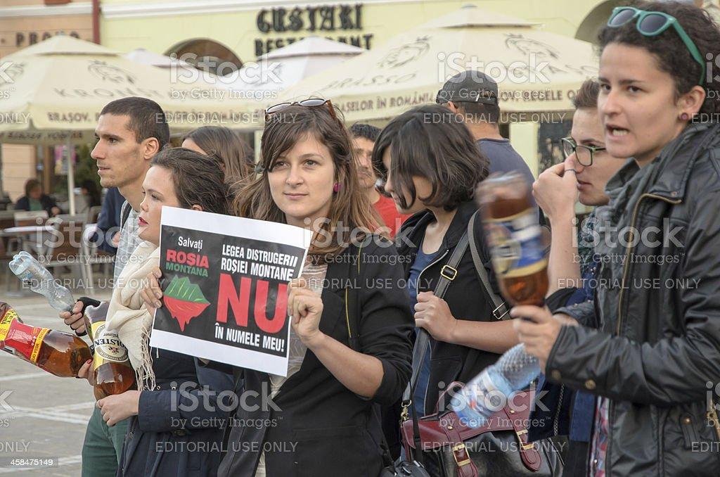 Protests for Rosia Montana royalty-free stock photo