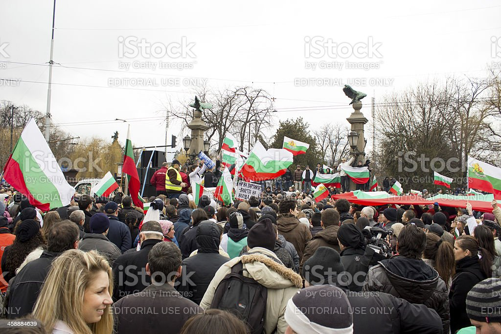 Protests in Bulgaria royalty-free stock photo