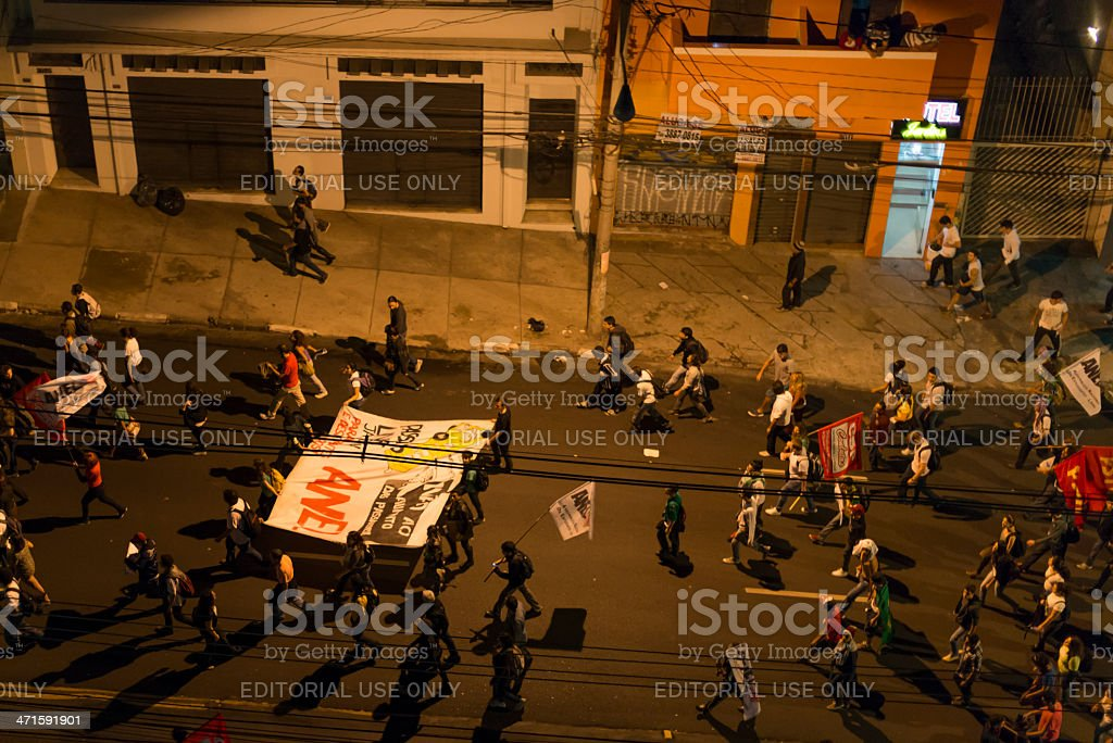 Protests in Sao Paulo, Brazil royalty-free stock photo