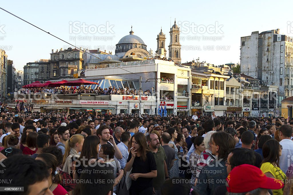 Protests in Turkey royalty-free stock photo