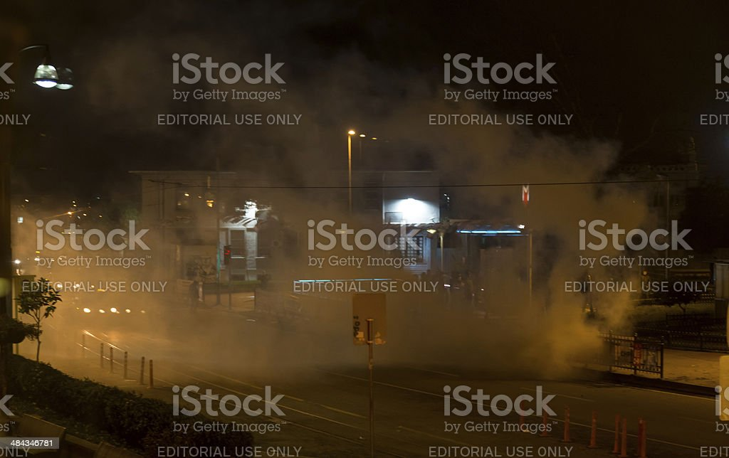 Protests in Turkey stock photo
