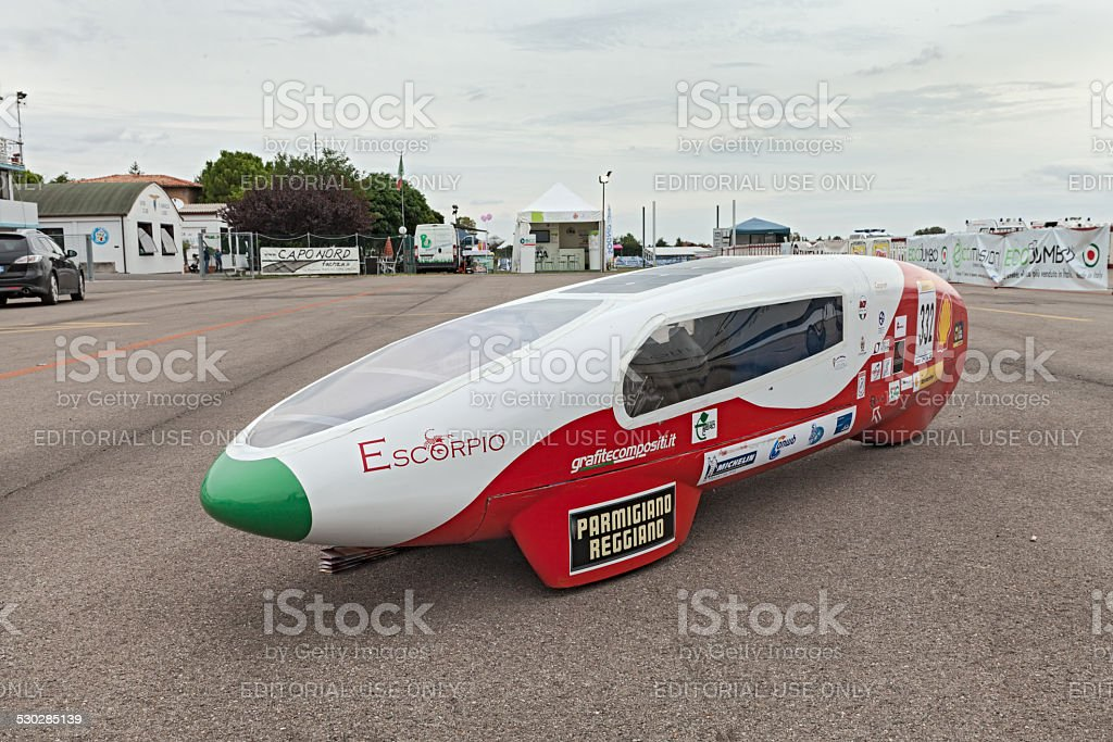 prototype high efficiency vehicle stock photo