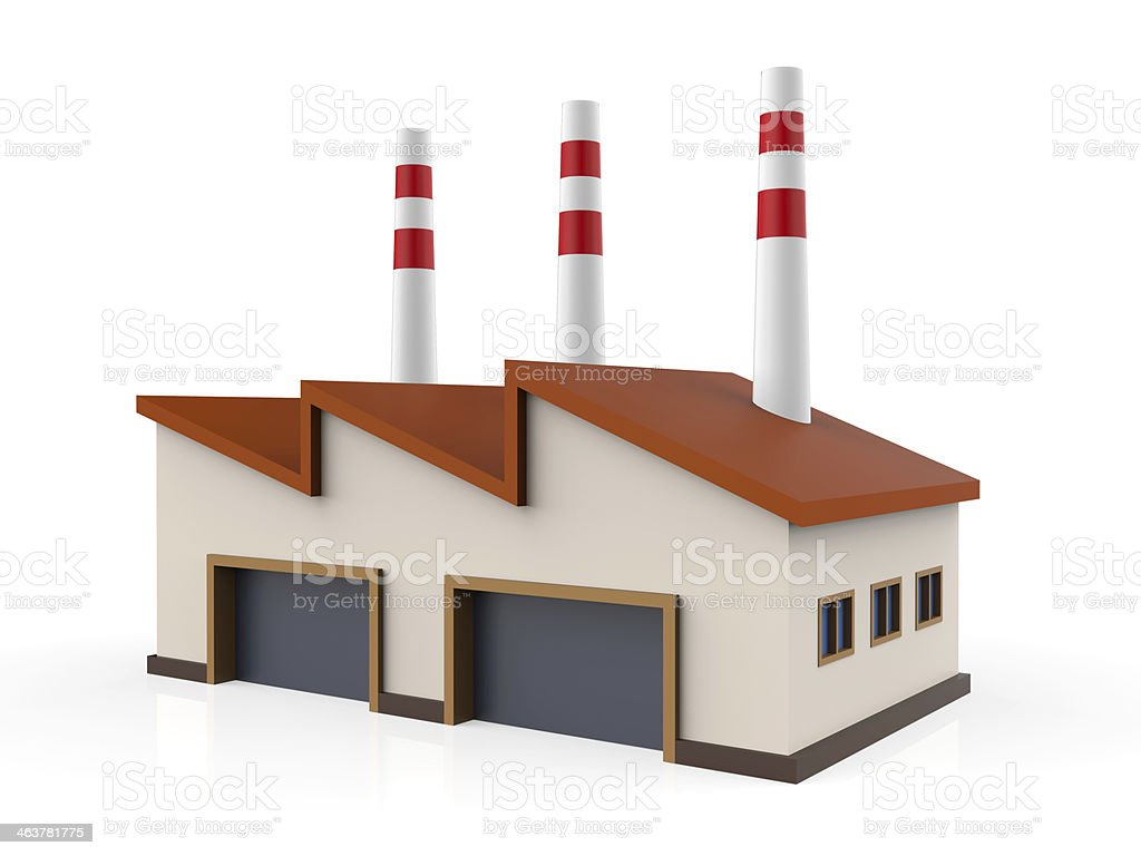 Prototype of a industrial building stock photo