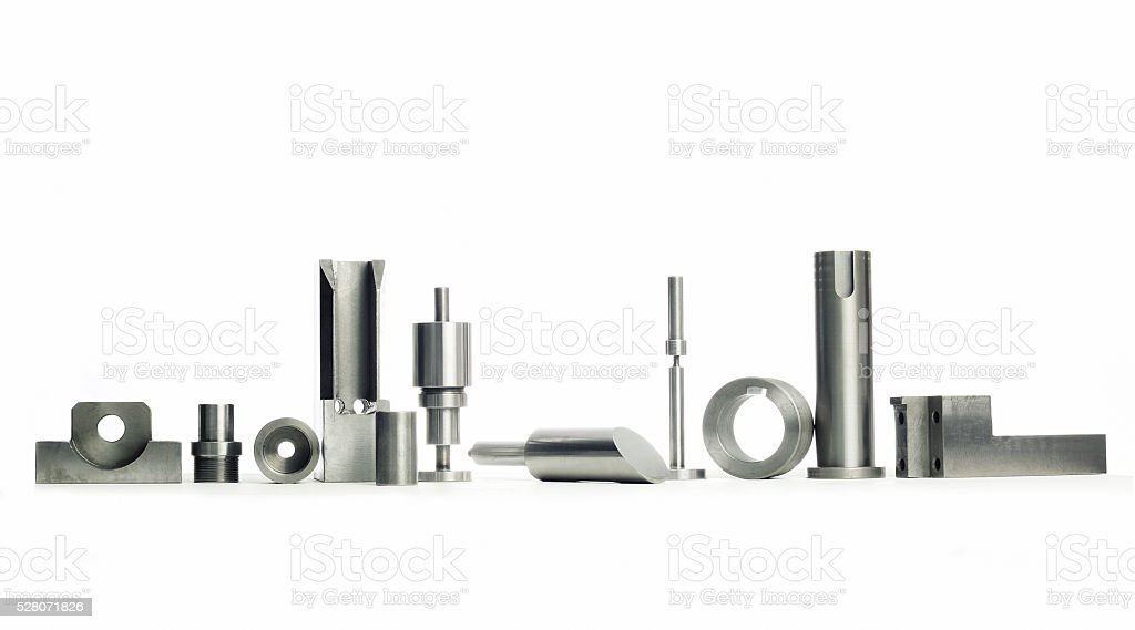 prototype stainless steel parts stock photo