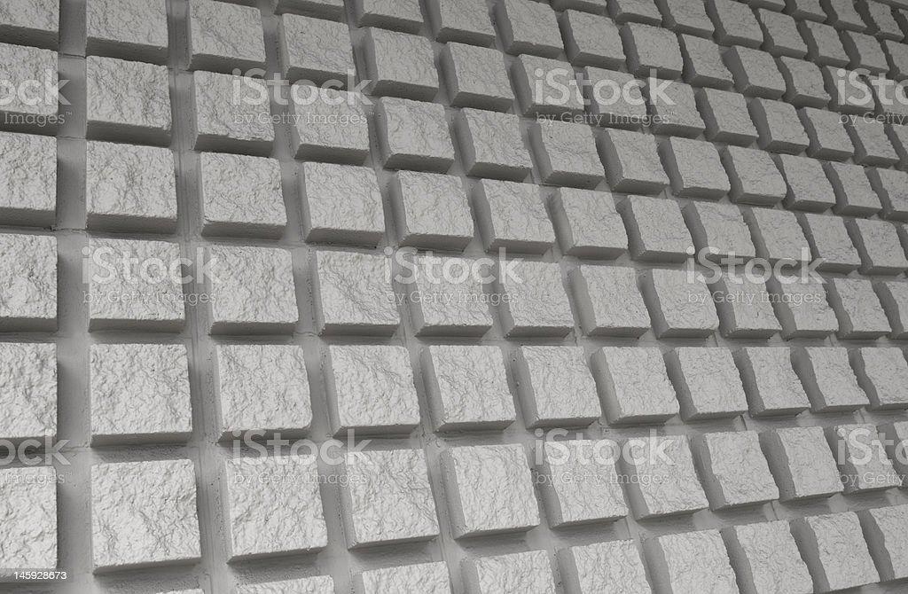 Proéminente motif mur de brique photo libre de droits