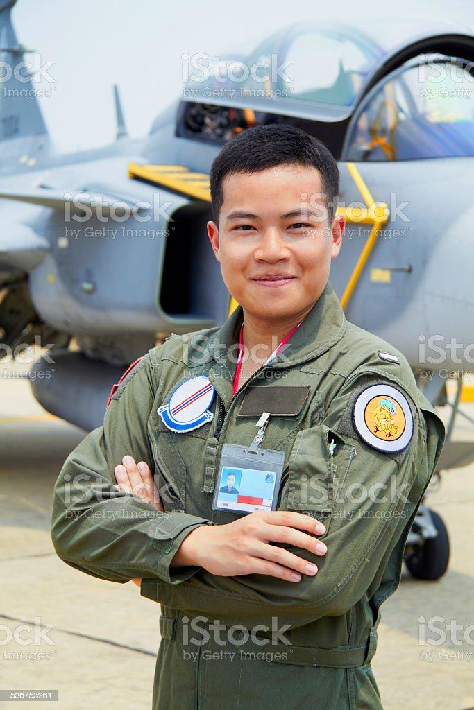 Proud airman stock photo