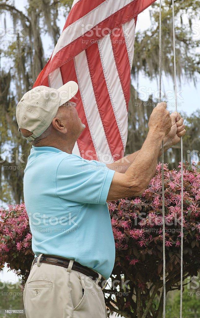 Proud American Veteran royalty-free stock photo