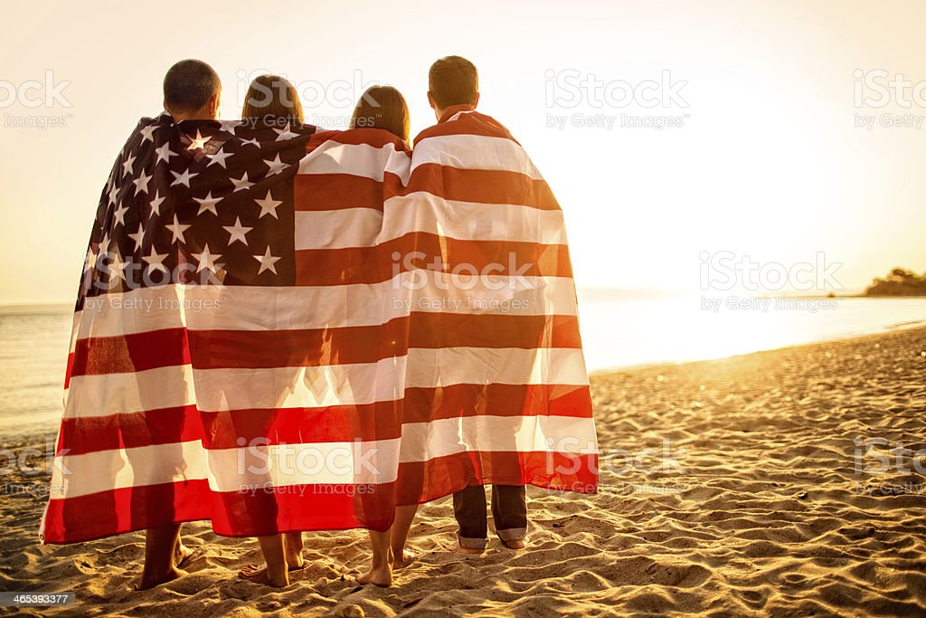 Proud Americans stock photo