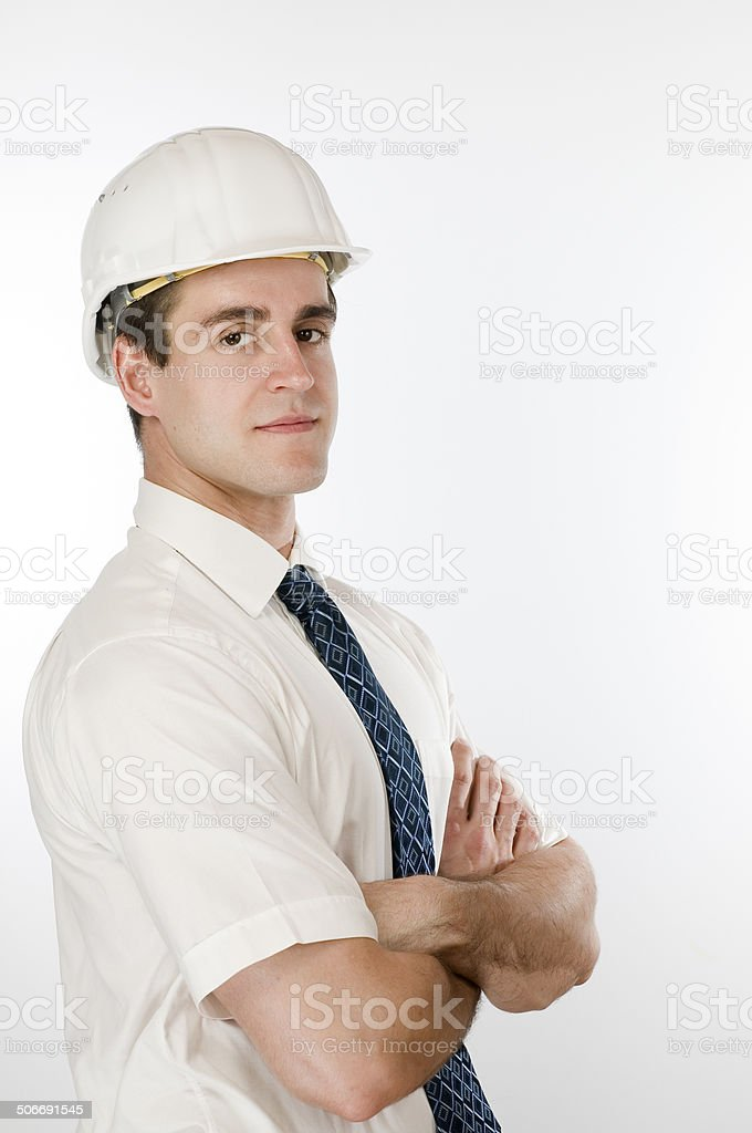 proud and strong srchitect side stock photo
