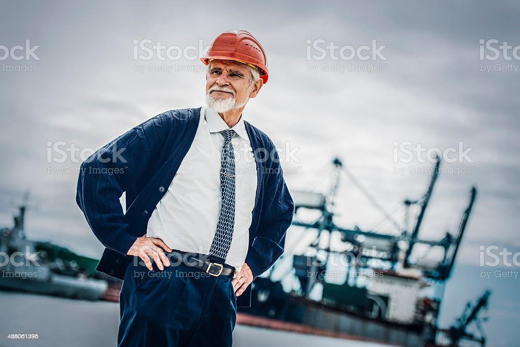 Proud Architect stock photo