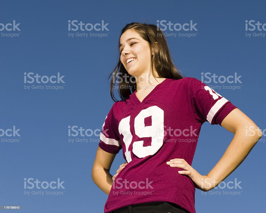 Proud Athlete (Dominating Perspective) royalty-free stock photo