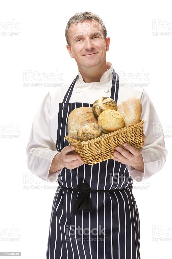 proud baker stock photo