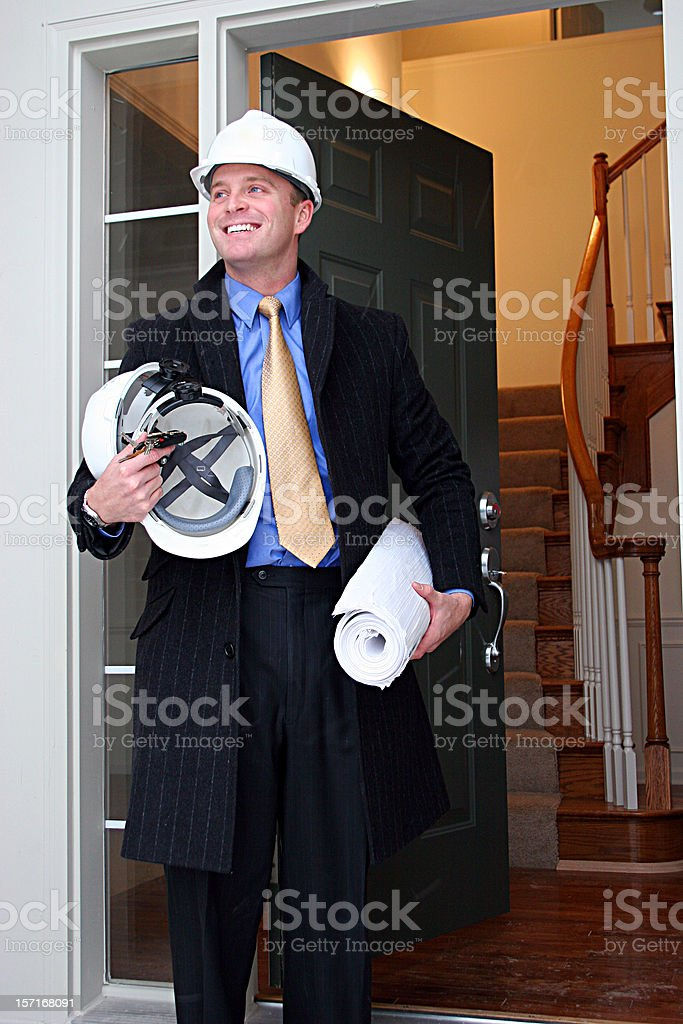 Proud Builder Vertical 2 royalty-free stock photo