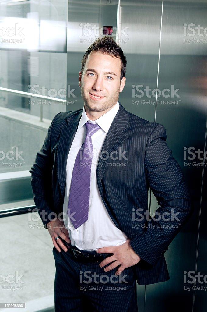 Proud businessman royalty-free stock photo
