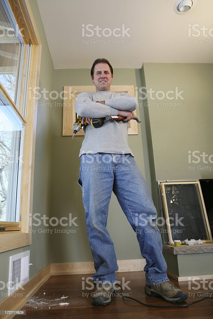 Proud Carpenter/Contractor royalty-free stock photo