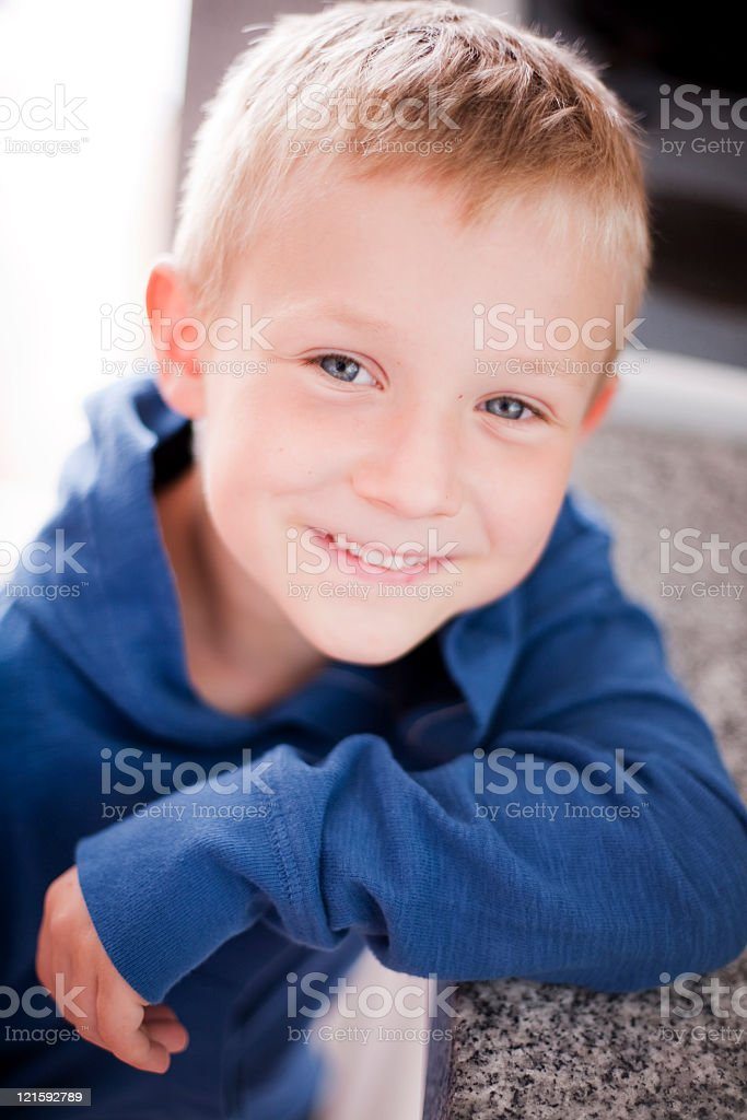 Proud child royalty-free stock photo