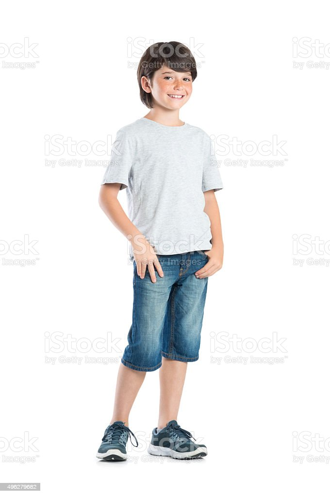 Proud child stock photo