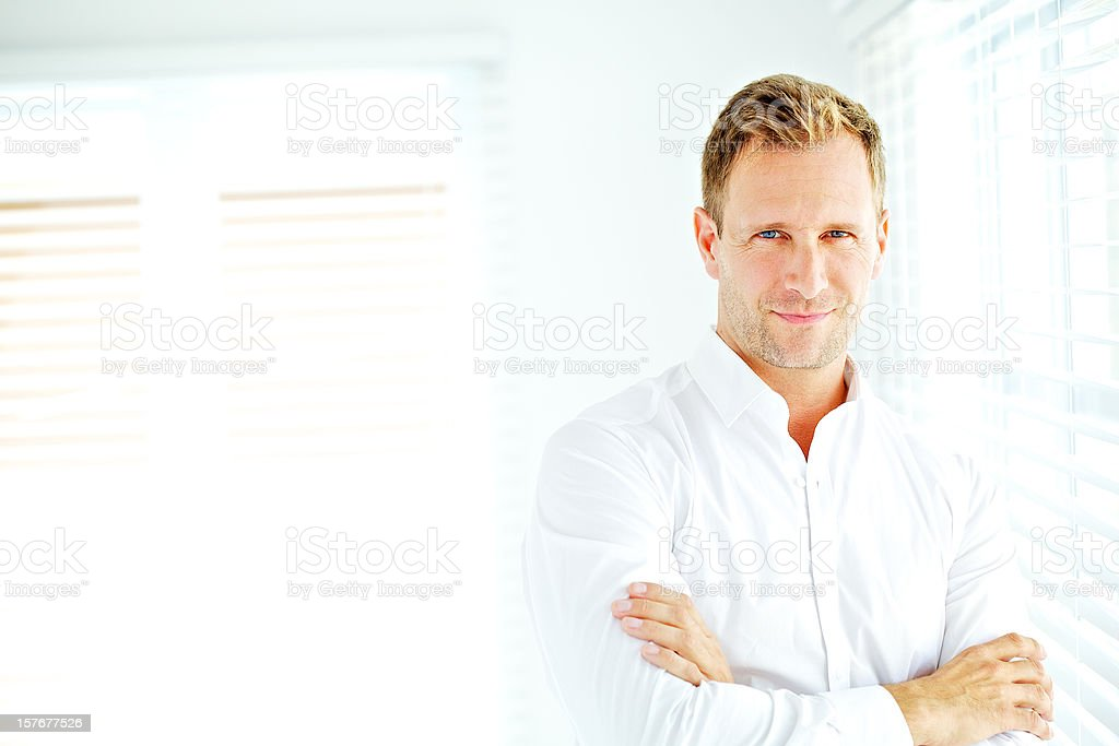 Proud confident man royalty-free stock photo