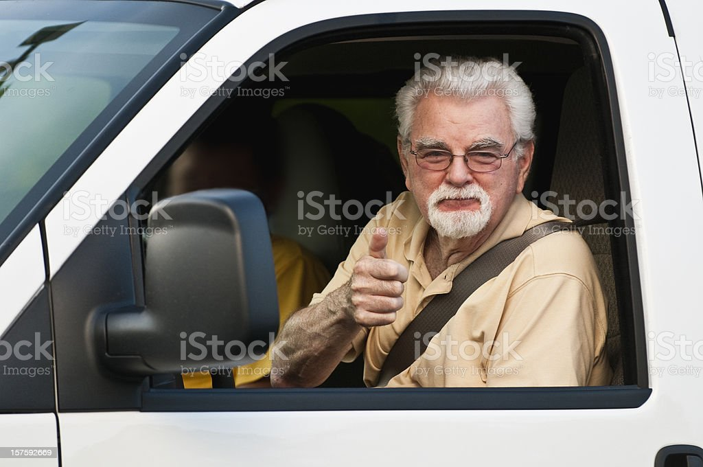 Proud driver royalty-free stock photo
