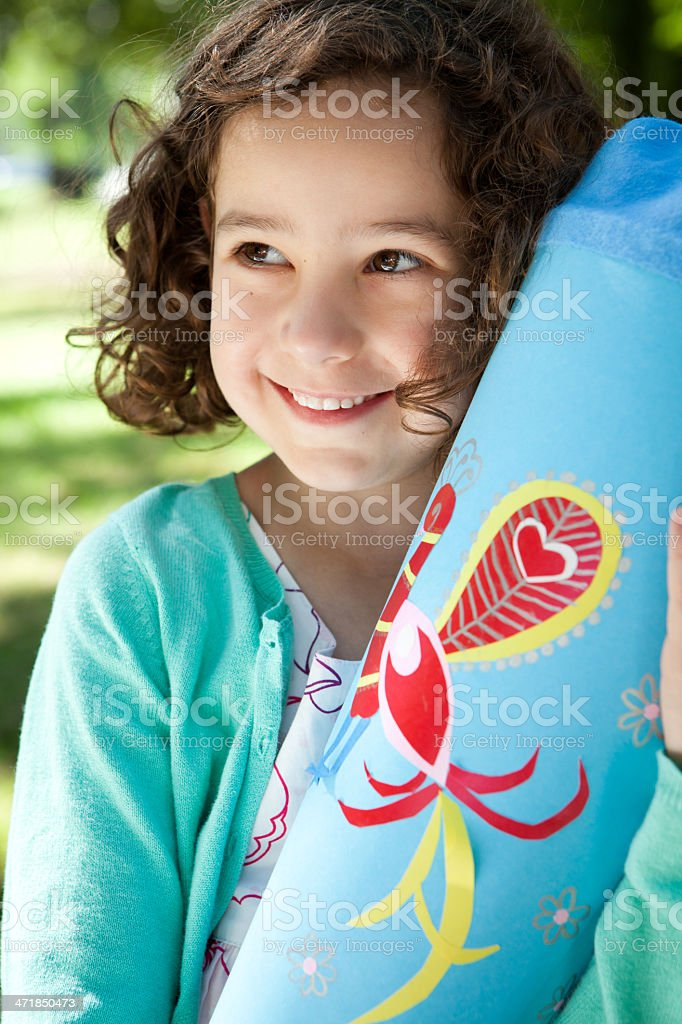 proud first grader royalty-free stock photo