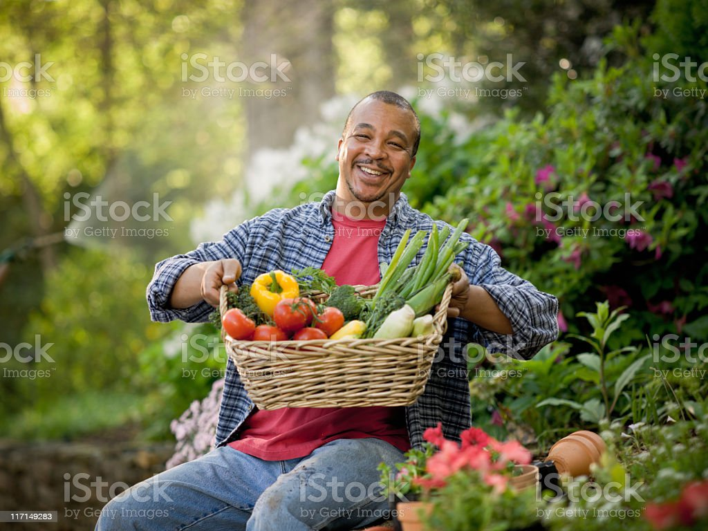 Proud Gardener stock photo