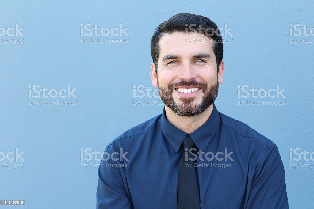 Proud Good Lookng Italian Businessman Smiling stock photo