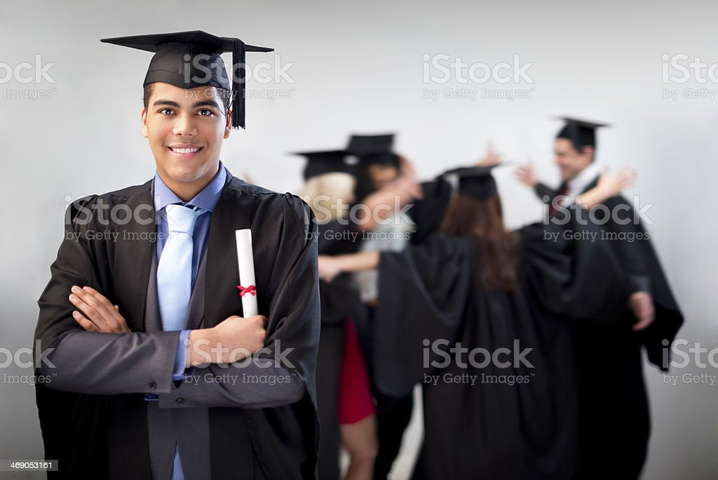 proud graduate stock photo