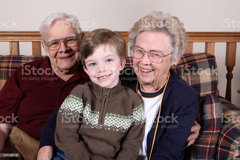 Proud grandparents. royalty-free stock photo