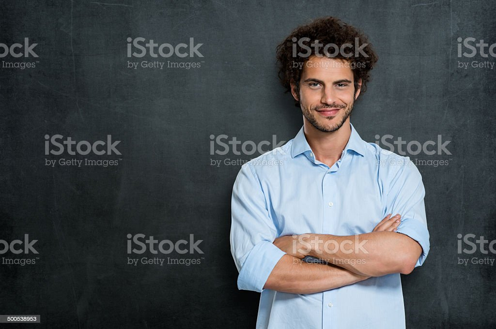 Proud Happy Businessman stock photo