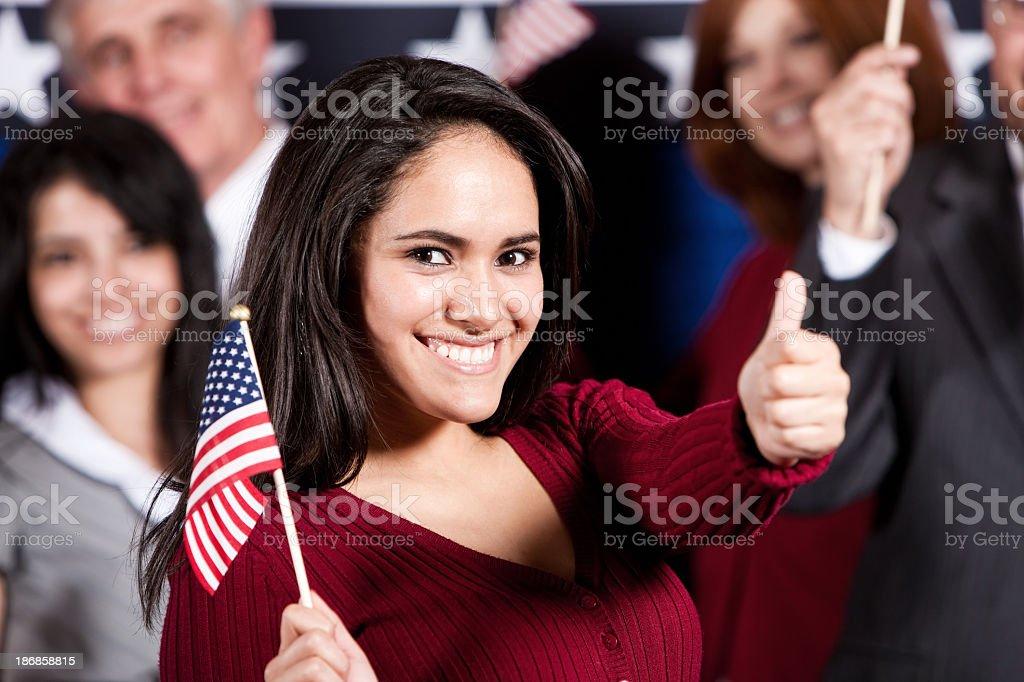 Proud Hispanic U.S. Citizen stock photo
