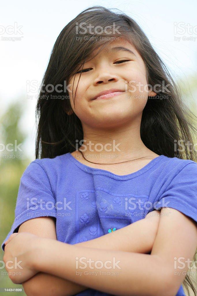 Proud little girl royalty-free stock photo