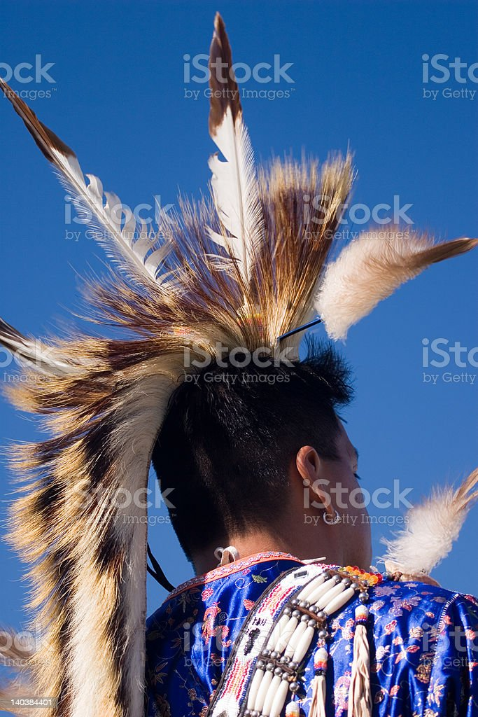 Proud Native American stock photo