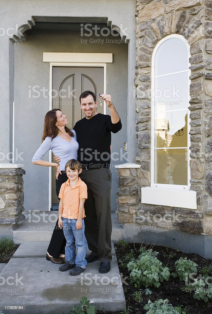 Proud New Homeowners royalty-free stock photo