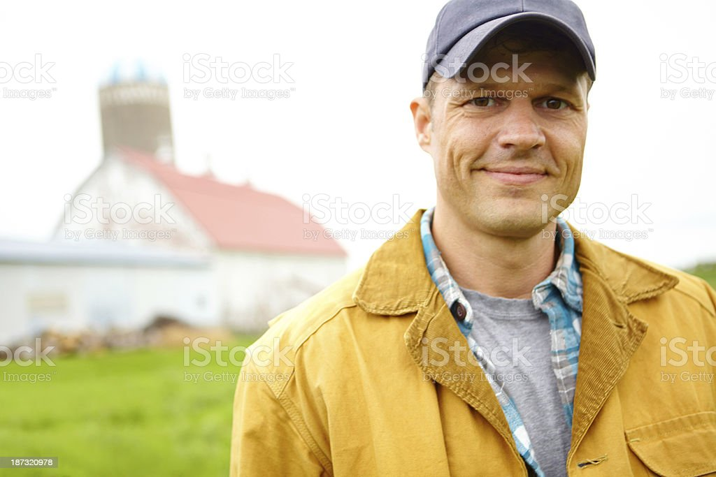Proud of his farm royalty-free stock photo