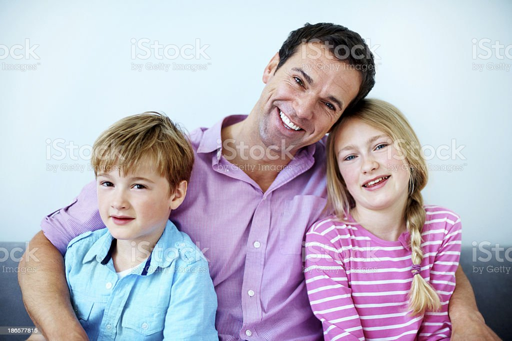 Proud of his kids royalty-free stock photo