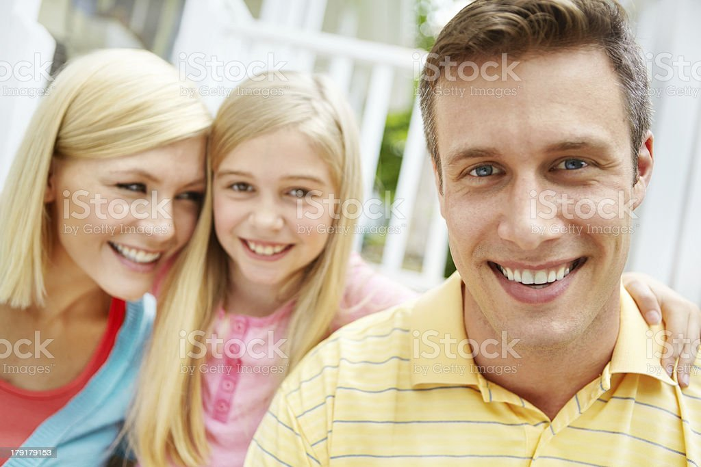 Proud of his little family royalty-free stock photo