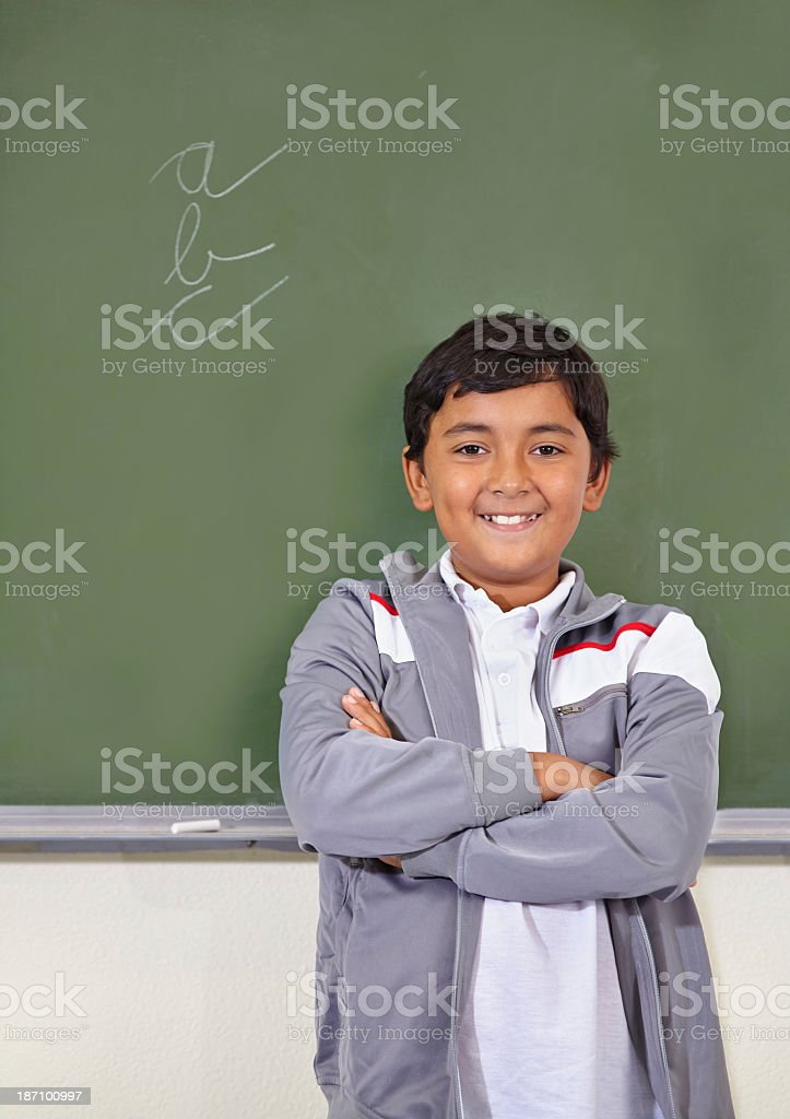 Proud of his work royalty-free stock photo