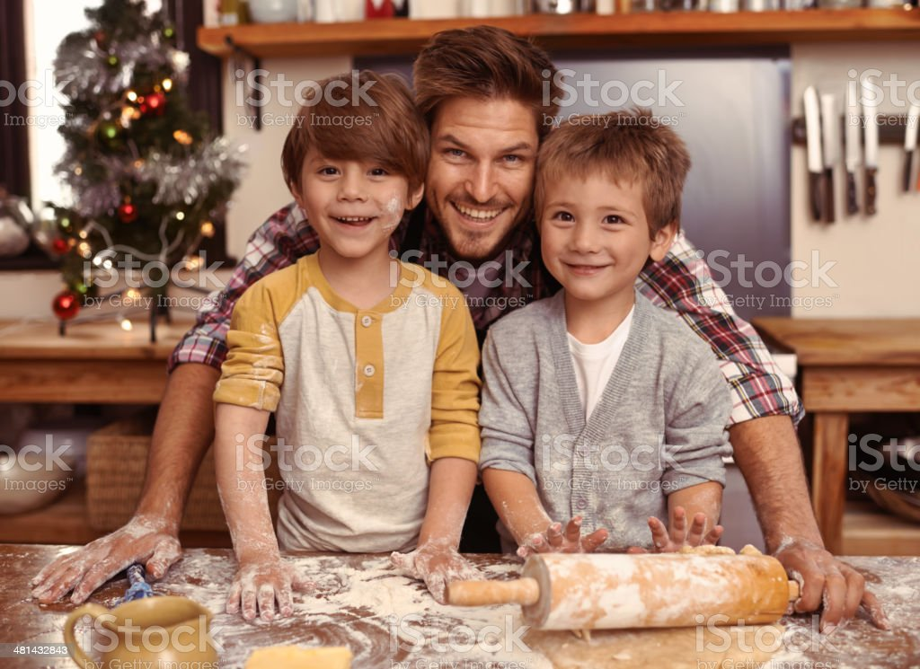 Proud of my little chefs! stock photo