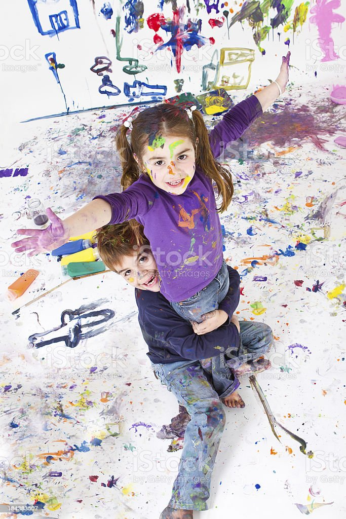 Proud of our creation royalty-free stock photo