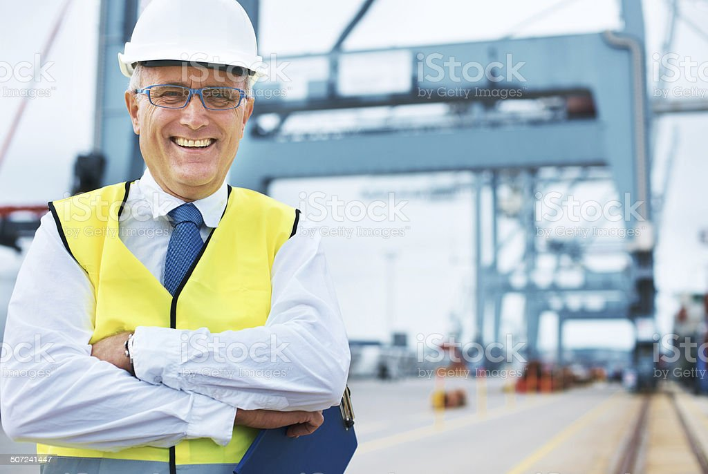 Proud of our excellent service record...safe,fast and reliable! stock photo