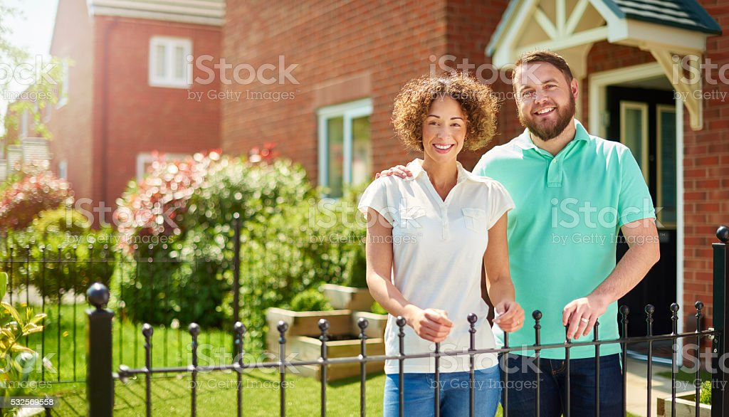proud of our new home stock photo
